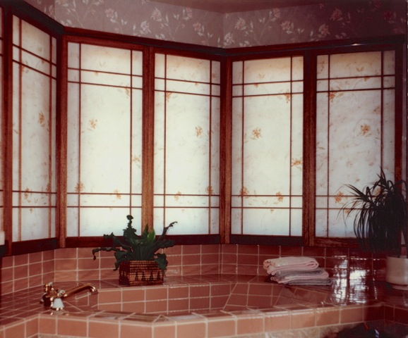 Bay windows design shoji for International decor window treatments