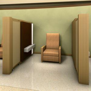 HGA rendering - disappearing doors for hospital bays